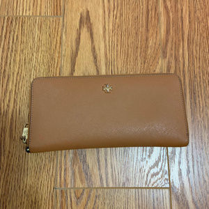 Tory Burch Brown & Gold Wallet